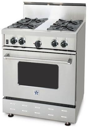 "BlueStar RPB304BV1LP 30"" RPB Series Gas Freestanding Range with Open Burner Cooktop, Oven in Stainless Steel"