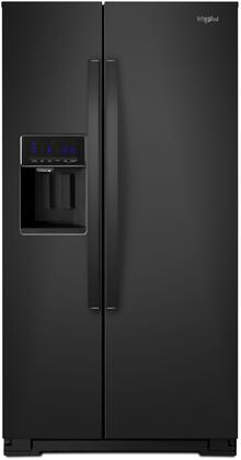 """Whirlpool WRS571CIHx 36"""" Side by Side Counter-Depth Refrigerator with 21 cu. ft. Capacity, LED Dispenser Night Light, In-Door-Ice Storage, in"""