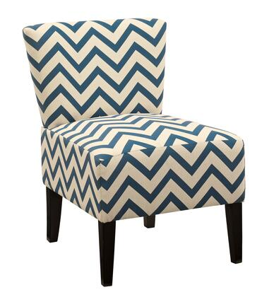 Milo Italia Weston MI-8255ATMP Accent Chair with Removable Tapered Legs, Patterned Fabric Upholstery and Tight Seat Construction in