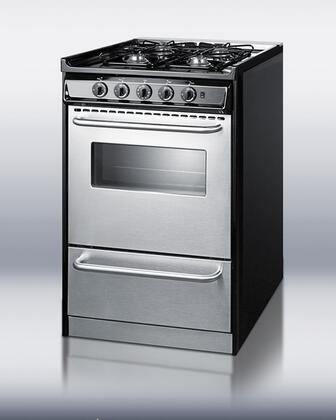 Summit TNM130R Professional Series Slide-in Gas Range with Sealed Burner Cooktop Broiler 2.46 cu. ft. Primary Oven Capacity