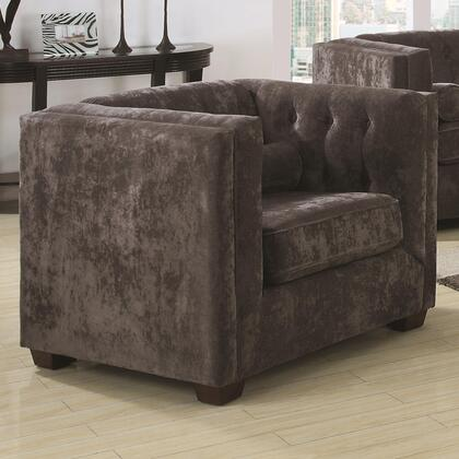 Coaster 504493 Alexis Series Fabric Armchair with Wood Frame in Charcoal