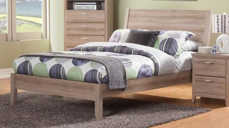 Sandberg 343B Serina Series  California King Size Platform Bed