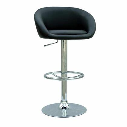 Chintaly 0380-AS- Swivel and Adjustable Height Bar Stool: