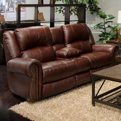 """Catnapper Messina Collection 80"""" Power Lay Flat Reclining Console Loveseat with Control Panel Technology, Top Grain Italian Leather and Leather Match Upholstery"""