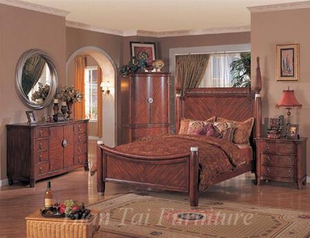Yuan Tai SF9400QTVSET Santa Fe Series 5 Piece Bedroom Set