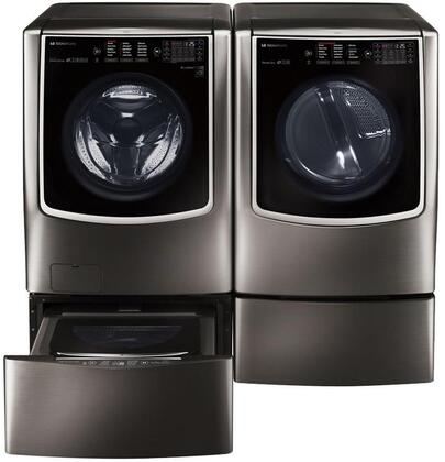 LG Signature 801245 Black Stainless Steel Washer and Dryer C