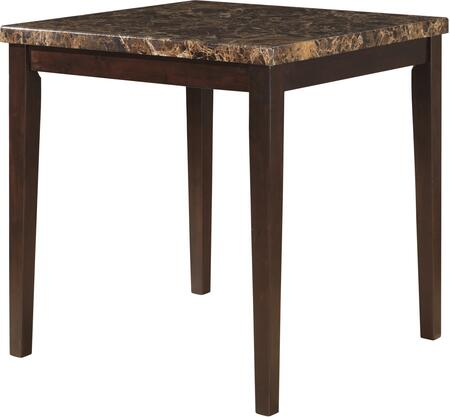Glory Furniture Bar Table with Brown Faux Marble Top, Tapered Legs, Wood Construction, Stain and Impact Resistant in Brown Finish
