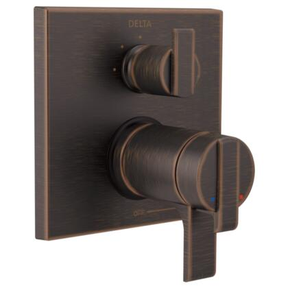 Ara T27T867-RB Delta Ara: Angular Modern TempAssure 17T Series Valve Trim with 3-Setting Integrated Diverter in Venetian Bronze