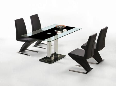 VIG Furniture VGLET0115PCSET Saturn Dining Room Tables