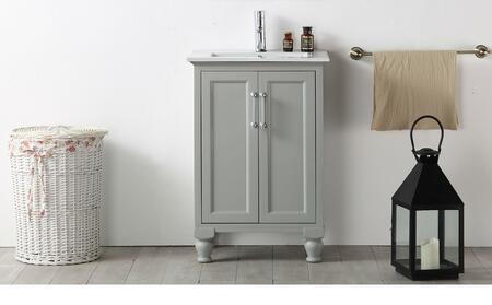 """Legion Furniture WH7524 24"""" Sink Vanity with 2 Doors, Ceramic Sink and 1 Pre-Drilled Single Faucet Hole in"""