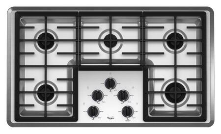 Whirlpool W5CG3625XS  Gas Sealed Burner Style Cooktop