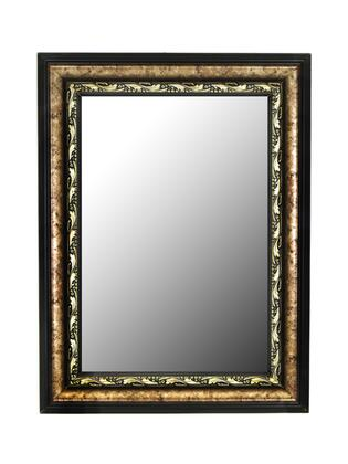 Hitchcock Butterfield 33270X Reflections Constantine Silver Scroll Black Trim Wall Mirror with Bevel
