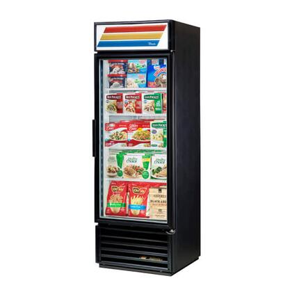 True GDM-19T Refrigerator Merchandiser with 19 Cu. Ft. Capacity, LED Lighting,and Thermal Insulated Glass Swing-Doors