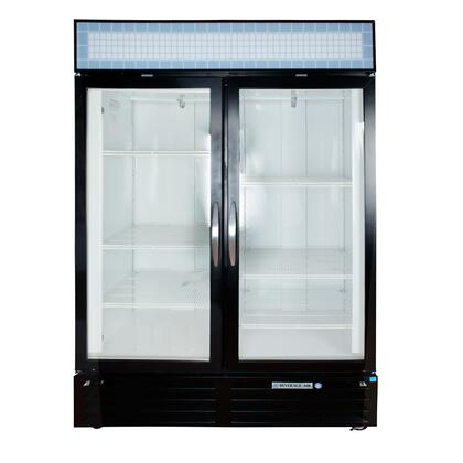 "Beverage-Air MMF49-1 MarketMax 52"" Two Section Glass Door Reach-In Merchandiser Freezer with LED Lighting, 49 cu.ft. Capacity, [Color] Exterior, [Electronic Lock] and Bottom Mounted Compressor"