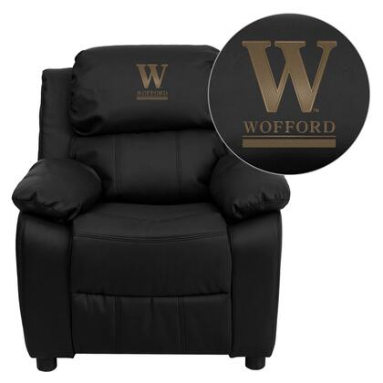 Flash Furniture BT7985KIDBKLEA45032EMBGG Childrens Bonded Leather Wood Frame  Recliners
