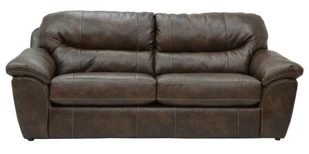 "Jackson Furniture Brantley Collection 4430-03- 95"" Sofa with Pillow Top Arms, Bonded Leather Upholstery and Luggage Stitching in"