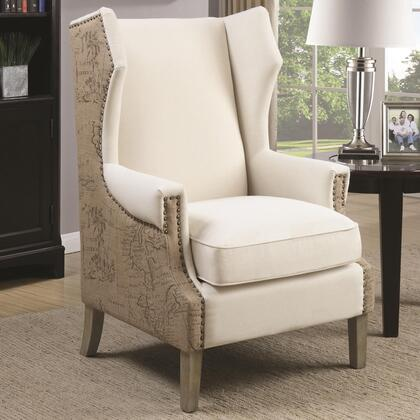 Coaster 902491 Accent Seating Series Armchair Fabric Wood Frame Accent Chair