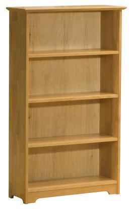 Atlantic Furniture FTBCL Solid Hardwood 4 Shelves Bookcase