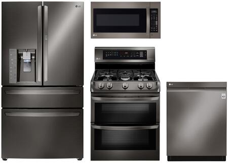 LG 729031 Black Stainless Steel Kitchen Appliance Packages