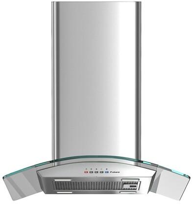 "Futuro Futuro ISxMOONCRYS X"" Moon Crystal Series Range Hood with 940 CFM, 4-Speed Electronic Controls, Delayed Shut-Off, Filter Cleaning Reminder, and in Stainless Steel"