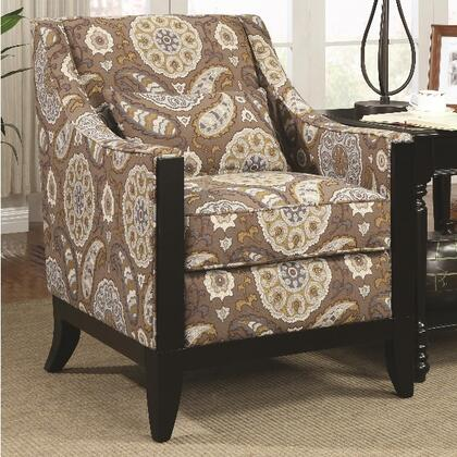 Coaster 902091 Accent Seating Series Fabric Wood Frame Accent Chair