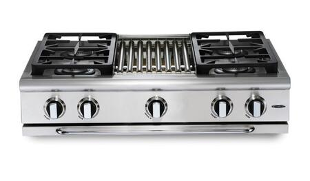 "Capital GRT364QN 36"" PRECISION Series Natural Gas Sealed Burner Style Cooktop, in Stainless Steel"