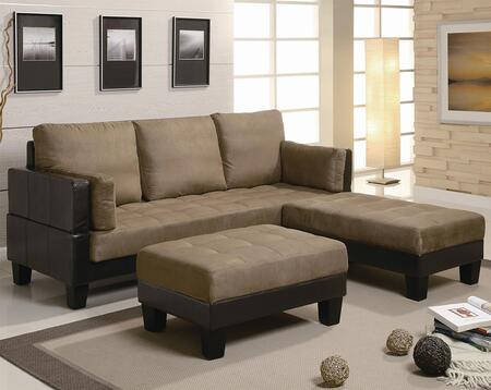 Coaster 300160  Convertible Microfiber Sofa