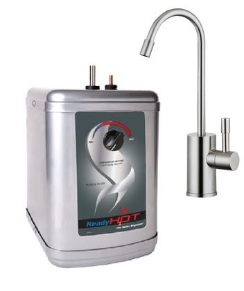 Hot Water Dispenser with Brushed Nickel Faucet