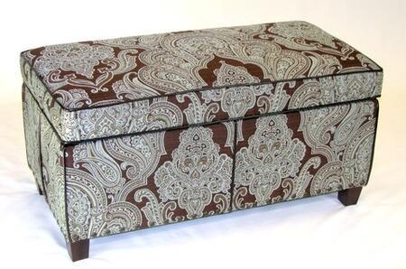 4D Concepts 77630 Contemporary Fabric Ottoman