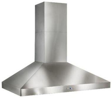 Best WPP9 Colonne Wall Mount Chimney Hood with Heat Sentry, Delay Off, Hi-Flow Baffle Filters, Filter Clean Reminder, and Halogen Lights: Stainless Steel