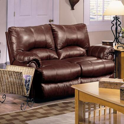 Lane Furniture 20422525021 Alpine Series Leather Match Reclining with Wood Frame Loveseat