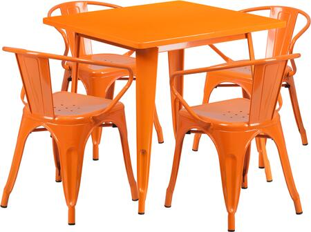 Flash Furniture ETCT002470ORGG Square Shape Patio Sets