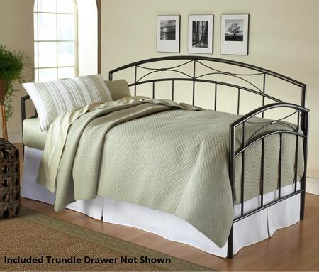 Hillsdale Furniture 1545D Morris Daybed with Straight Spindles, Classic Silhouette, Gentle Arches and Tubular Steel Construction in Sand Silver Color
