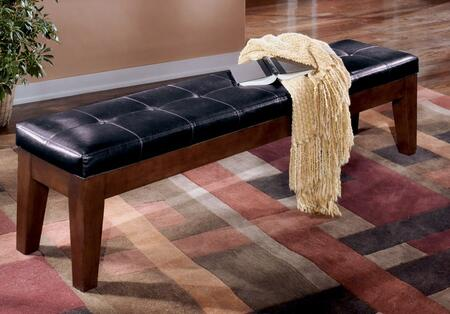 Signature Design by Ashley D44209 Larchmont Series Accent Armless Wood Faux Leather Bench
