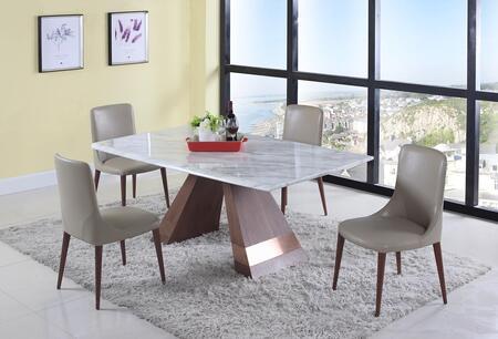 Chintaly SCARLETT5PC Scarlett Dining Room Sets