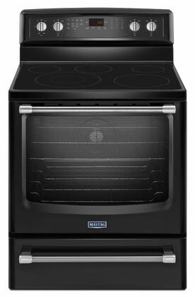 "Maytag MER8800D 30"" Freestanding Smoothtop Electric Range with 6.2 cu. ft. EvenAir Convection, Power Reheat, Storage Drawer, AquaLift Self-Cleaning, Variable Broil and 3200-Watt Power Element in"