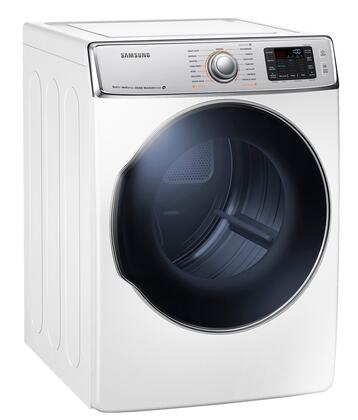 Samsung Appliance DV56H9100XW 9.5 cu. ft. Dryer with 15 Drying Cycles, Sensor Dry, Steam Cycle, Dryer Drum Light and Reversible Door in White
