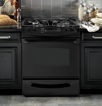 GE PGS975DEPBB  Slide-in Gas Range with Sealed Burner Cooktop Storage 4.1 cu. ft. Primary Oven Capacity