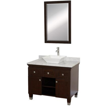 "Wyndham Collection WCV500036 Premiere 36"" Single Vanity, with Warp Resistant Construction, Water Resistance, Storage Space, Two Doors, Two Drawers, Top, and Sink"