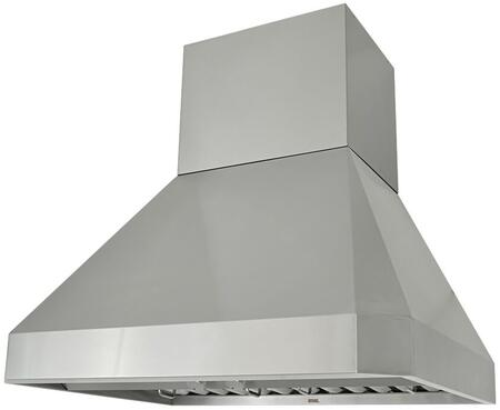 Kobe RA02 Wall Mount Range Hood With 1200 CFM Internal Blower, 3 Speeds, Rotary Control, LED lights, Stainless steel Professional Baffle Filters and QuietMode: