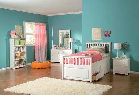 Atlantic Furniture MAT4WHTW  Twin Size Bed