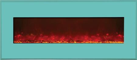 Amantii WMBI435123COASTALBLUE WMBI Series Wall Mountable Electric Fireplace