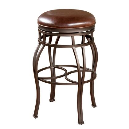 American Heritage 134715PPL322 Bella Series Residential Leather Upholstered Bar Stool
