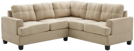 Glory Furniture G511BSC G510 Series Stationary Suede Sofa
