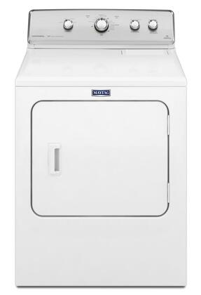 "Maytag Centennial MXDC555DW 29"" Front Load Dryer with 7.0 cu. ft. Capacity, 13 Drying Cycles, IntelliDry Sensor Drying, Wrinkle Control Option, and Reversible Door in White"