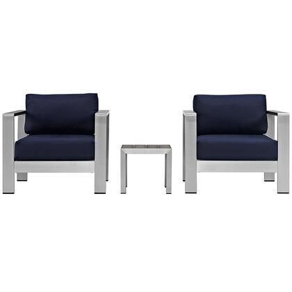 Modway EEI2599SLVNAV Modern Square Shape Patio Sets