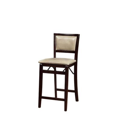 Linon 01831MAN01ASU Triena Jute Pad Back Folding Counter Stool