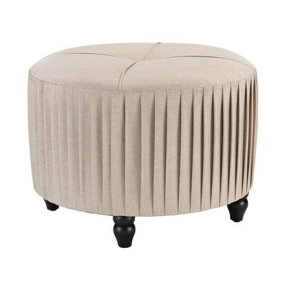 Sterling 180012 Ottoman Series Transitional Fabric Wood Frame Ottoman