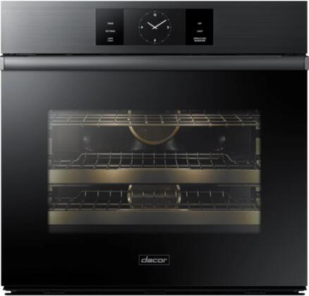 "Dacor DOB30M977S 30"" Modernist Series Electric Single Wall Oven with 4.8 Cu. Ft. Oven Capacity, Four-Part Pure Convection, Convection Roast, Steam Bake, SoftShut Oven Door, Delay Start, and Sabbath Mode, in"