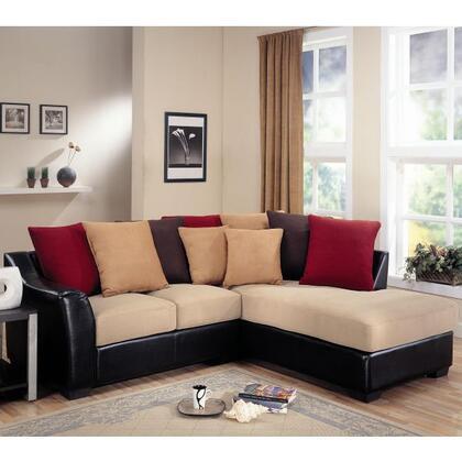 Coaster 501895  Stationary Microfiber Sofa